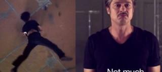 Brad Pitt tańczy breakdance!