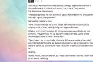 """Saramonowicz """"erotycznie"""" o niespełnionych obietnicach Dudy"""