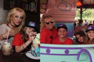 Britney Spears z dziećmi w Disneylandzie (FOTO)