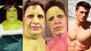 """Najlepszy strój na Halloween? Aktor przebrany za... Fionę ze """"Shreka""""! (ZDJĘCIA)"""