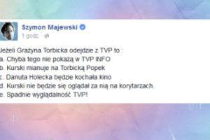 Majewski o odejściu Torbickiej z TVP