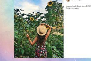 Macademian Girl pozuje w słonecznikach (FOTO)