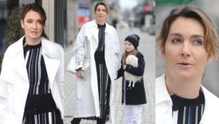 Wystylizowana Dominika Kulczyk z córką wychodzi ze studia TVN-u (ZDJĘCIA)