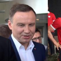 """Duda odwiedził reprezentację Polski: """"Wierzę w sukces. Chcę być na meczu finałowym!"""""""