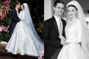 """Miranda Kerr pokazała suknię ślubną w """"Vogue'u""""! (FOTO)"""