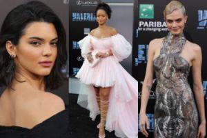 """Rihanna w różowym tiulu, Cara Delevingne i Kendall Jenner na premierze """"Valeriana"""" (ZDJĘCIA)"""