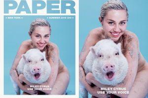 """Miley Cyrus też wystąpiła na okładce """"Paper""""! Lepiej niż Kim?"""