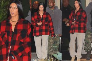 Kim Kardashian ukrywa łuszczycę w dresie i koszuli męża (ZDJĘCIA)