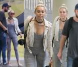 Miley Cyrus w obcisłym kombinezonie wysiada z Liamem z helikoptera (ZDJĘCIA)