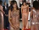 Michelle Obama w złotej sukni za 50 tysięcy złotych (ZDJĘCIA)