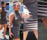 Wpadka Kim Kardashian: pokazała... wyszczuplające spodenki (FOTO)