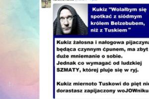 """Tomasz Lis o Kukizie: """"Ludzka szmata, której pluje się w ryj"""""""