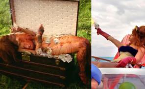 NAGA Rihanna w nowym teledysku!