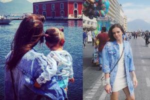 Anna Wendzikowska z córeczką na Capri (FOTO)