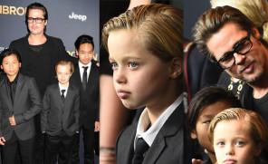Brad z synami i Shiloh w garniturach! (ZDJĘCIA)