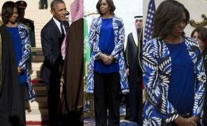 Michelle Obama wywołała skandal w Arabii Saudyjskiej, bo... nie założyła chusty!