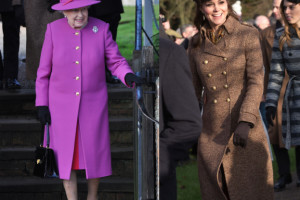 Świąteczne Kate Middleton i królowa Elżbieta II