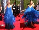 Heidi Klum w kreacji z piórami! (ZDJĘCIA)