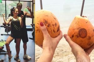 Lewandowscy piją z kokosa na urlopie (FOTO)