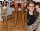Długie nogi 15-letniej córki Cindy Crawford w cekinowej sukience (ZDJĘCIA)