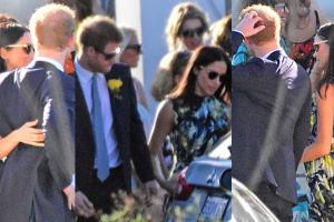 Książę Harry i Meghan Markle razem na ślubie znajomych! (FOTO)