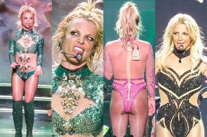 Odchudzona Britney Spears na koncercie w Las Vegas (ZDJĘCIA)