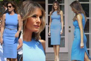 Melania Trump w obcisłej sukience za 7 tysięcy (ZDJĘCIA)