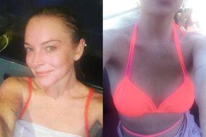 Naturalna Lindsay Lohan w bikini