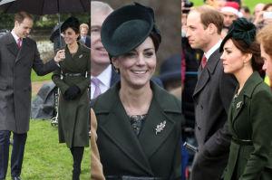 Księżna Kate na zielono w pierwszy dzień świąt (ZDJĘCIA)