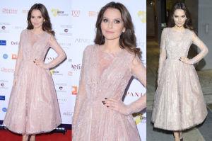 Paulina Sykut w koronkowej sukience na balu (ZDJĘCIA)