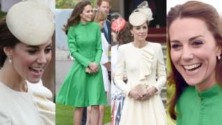 Zielona czy beżowa? Zobaczcie najnowsze stylizacje księżnej Kate (ZDJĘCIA)