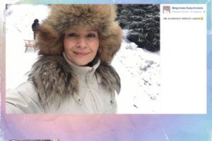 """Małgorzata Kożuchowska w futrzanej czapce """"jak za dawnych, dobrych czasów"""""""
