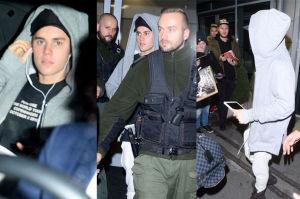 Justin Bieber wychodzi z lotniska w Krakowie (ZDJĘCIA)