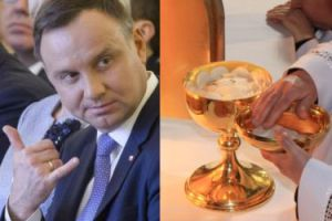 Kancelaria prezydenta Dudy wydała prawie 7000 złotych na krzyże, złote kielichy i różańce!