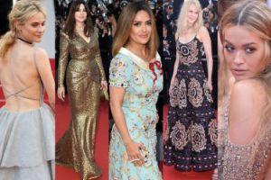 Tłum gwiazd na gali z okazji 70-lecia festiwalu w Cannes: Hayek, Bellucci, Kidman, Kruger... (ZDJĘCIA)