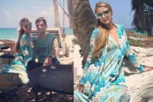 Zakochana Paris Hilton na plaży (GALERIA)