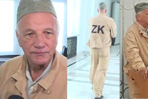 """Rulewski z PO przyszedł do Senatu w więziennym pasiaku. """"Kraj zamienia się w zakład karny"""""""
