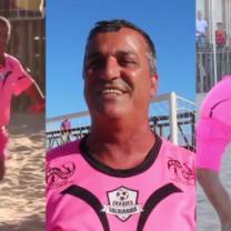 Różowy strój, gwizdek i kobiece ruchy! Oto nietypowy brazylijski sędzia piłkarski