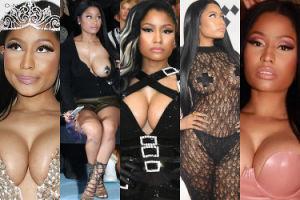 """Nicki Minaj dostała nagrodę dla... """"modnej buntowniczki""""! Zobaczcie, jak do tej pory buntowały się jej piersi (ZDJĘCIA)"""