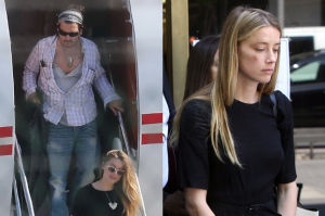 Amber Heard schowała się przed naćpanym Deppem w... łazience samolotu!