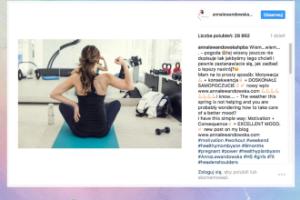"""Anna Lewandowska zdradza swój sposób na """"dobre samopoczucie"""""""