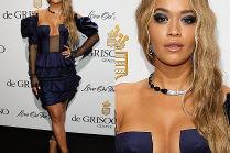 Ściśnięty biust Rity Ory na imprezie w Cannes
