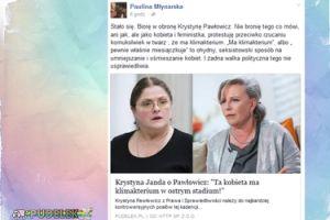 """Młynarska o słowach Jandy: """"Biorę w obronę Krystynę Pawłowicz"""""""