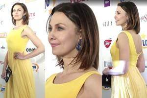 Anna Popek w żółtej sukni na Fryderykach!