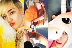 """""""NOWA LADY GAGA"""": Najdziwniejsze stroje Miley Cyrus... (ZDJĘCIA)"""