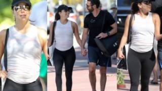 Eva Longoria z mężem idzie na siłownię. JEST W CIĄŻY? (ZDJĘCIA)