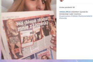 """""""Chłopak zdradzał mnie z Lisowską"""". Rafalala w tabloidzie"""