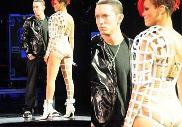 Eminem na koncercie Rihanny! (ZDJĘCIA)