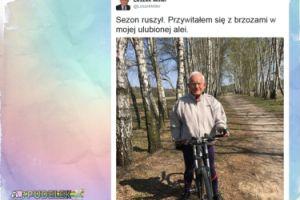 """Leszek Miller na rowerze: """"Przywitałem się z brzozami"""""""