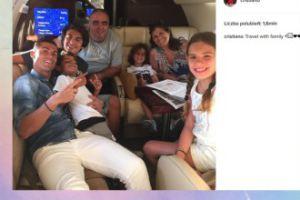 Cristiano Ronaldo w podróży z rodziną